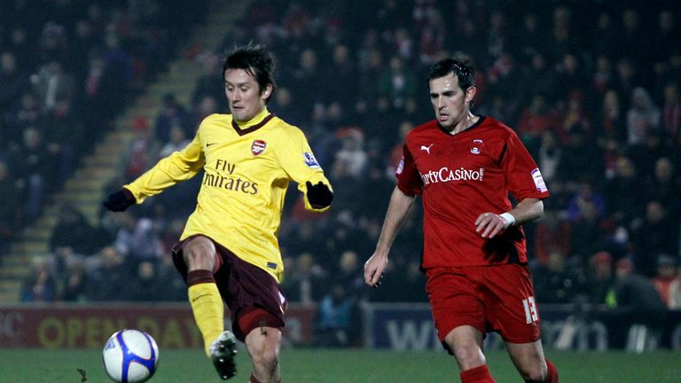 Up against Arsenal's Tomas Rosicky in an FA Cup tie for 2011 for Leyton Orient