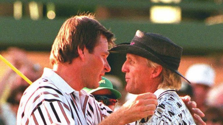 Hall was born two days before Nick Faldo's epic Masters win over Greg Norman