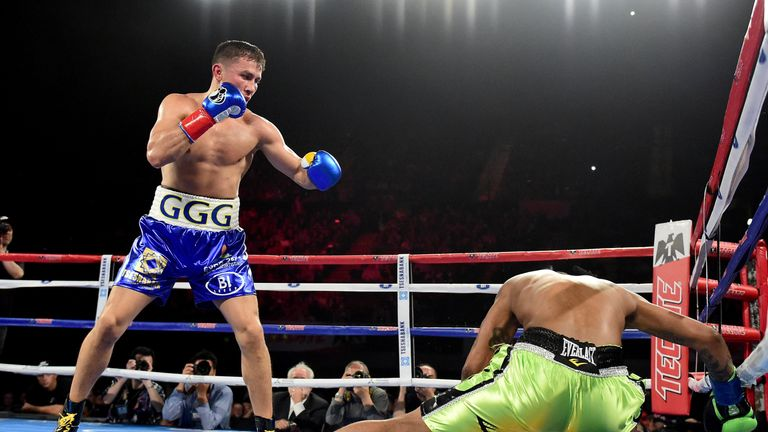 Golovkin knocked down Dominic Wade on the way to his most recent win