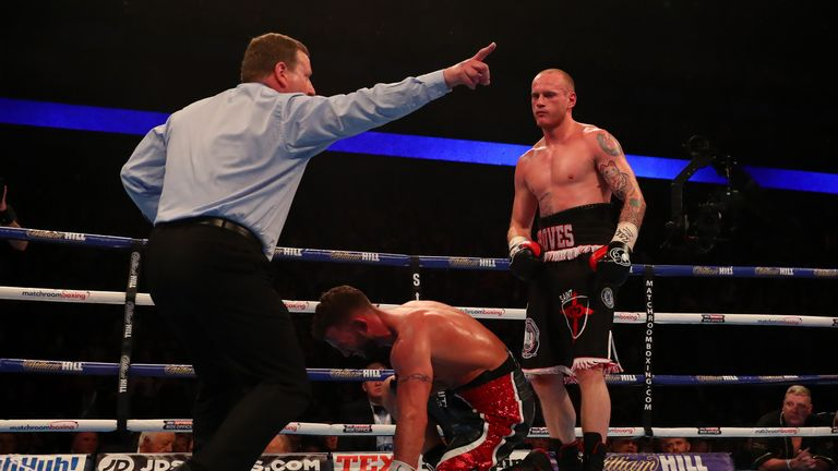 Groves brought an end to proceedings in the fourth
