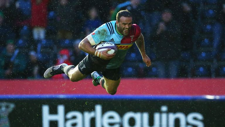 Jamie Roberts was outstanding as Harlequins crushed Grenoble