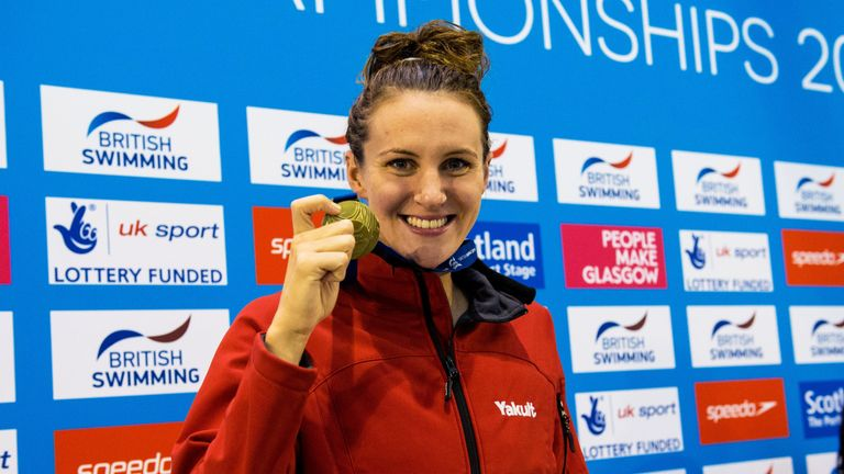 Jazz Carlin won gold in the women's 400m freestyle at the British Swimming Championships