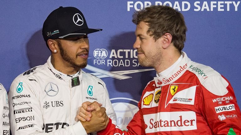 Lewis Hamilton, left, could be a target for Ferrari, Sky understands