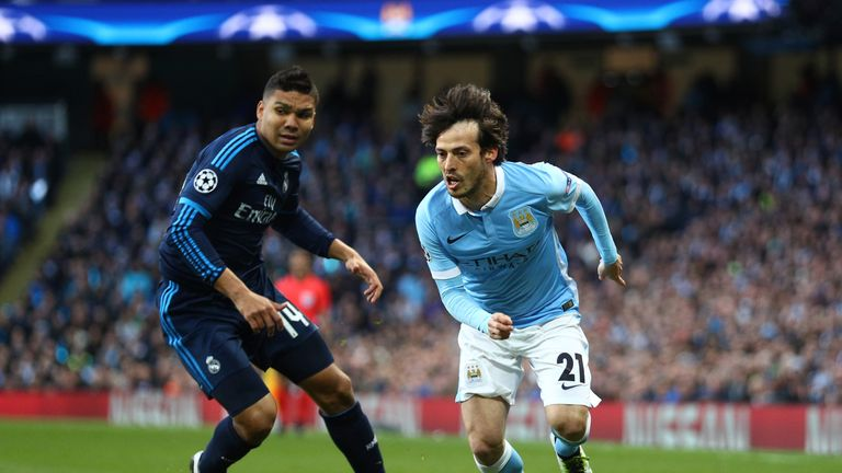 David Silva finds space for Manchester City