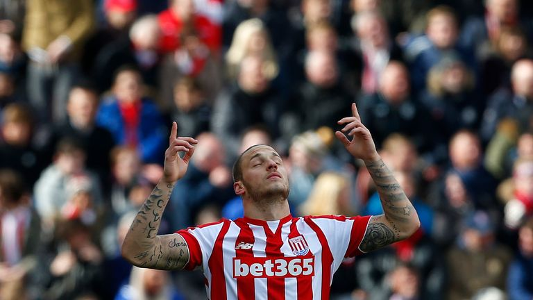 Marko Arnautovic scored twice against City at the bet365 Stadium last season