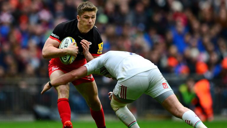 Farrell will miss Saracens' final two Premiership regular season fixtures against Newcastle and Worcester