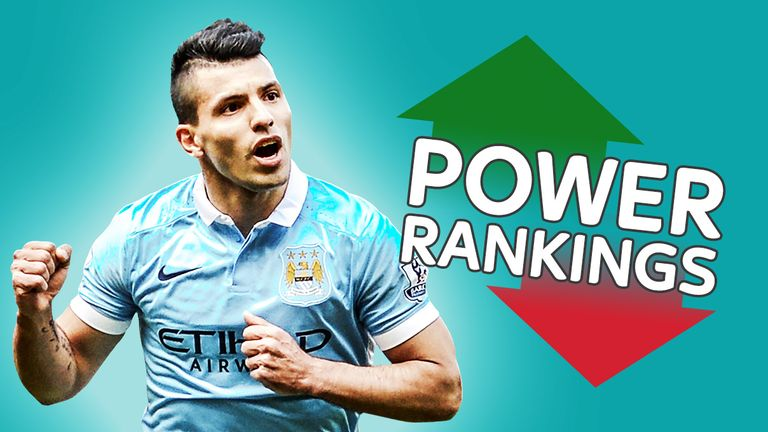 Sergio Aguero finished at No 4, despite only starting 29 league games for Manchester City this season