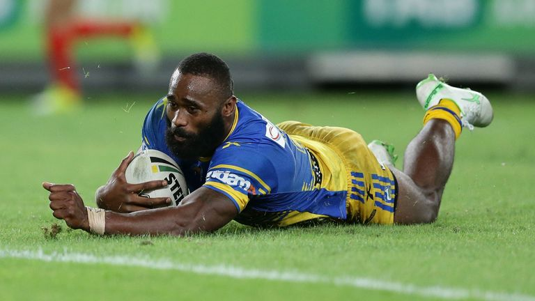 Radradra scored 82 tries for Parramatta Eels and represented both Fiji and Australia at international level in rugby league