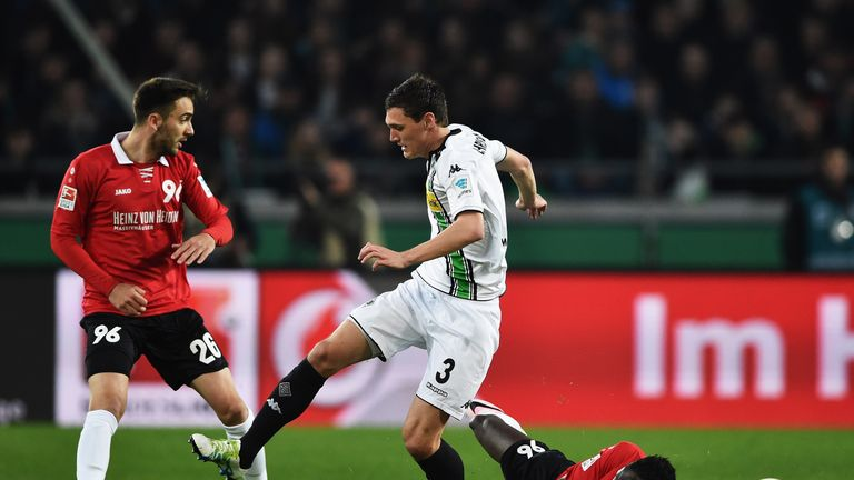 Andreas Christensen (centre) is halfway through a two-year loan spell in Germany