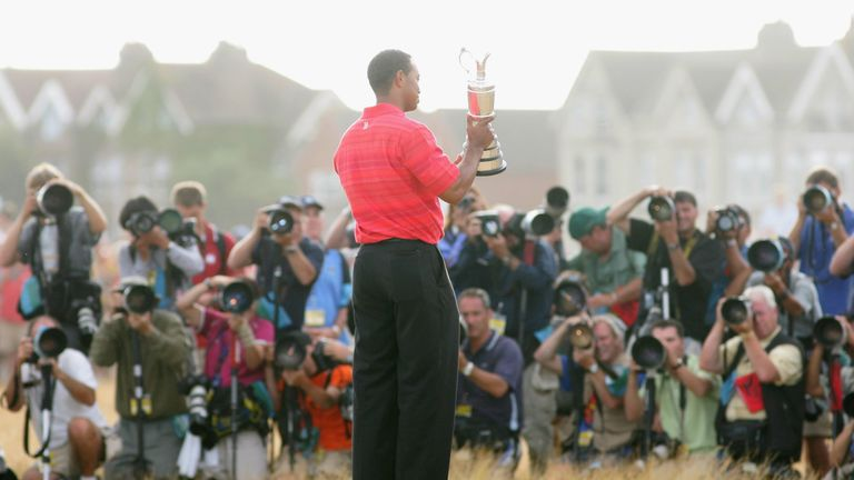 Tiger Woods looks back at his Open victories