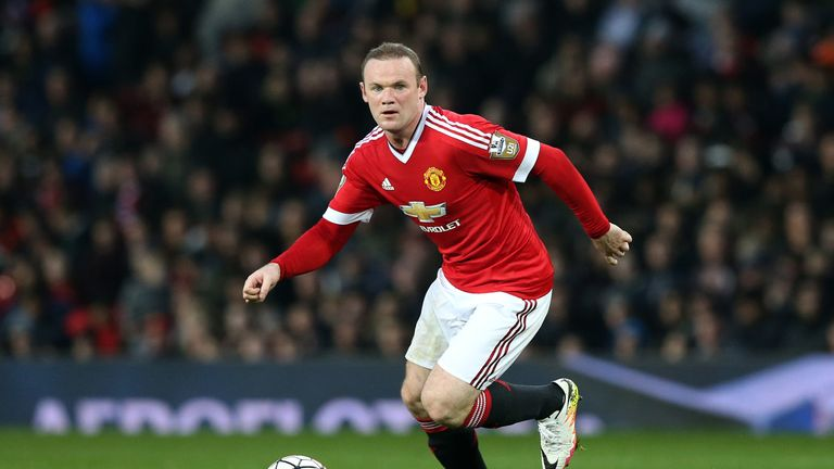 Rooney has recently been playing in Manchester United's midfield