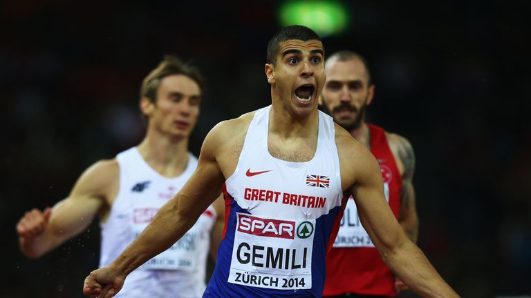 Gemili, 22,  says it is a 'real honour' to lead the athletics team