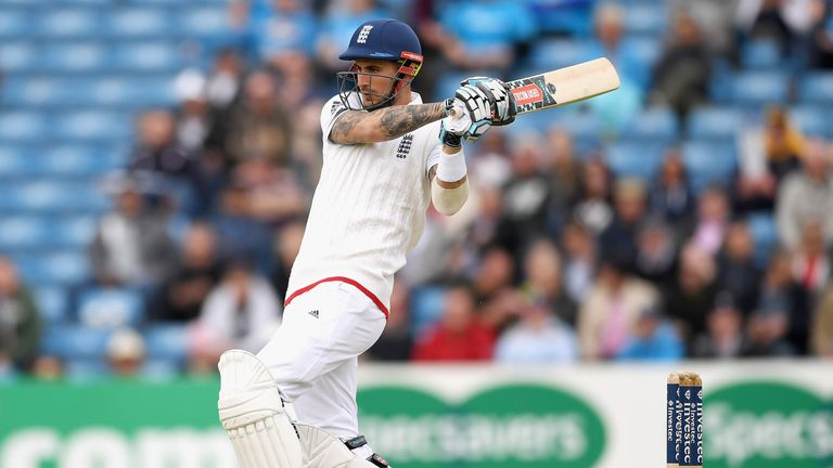 Alex Hales scored 86 to anchor England's first innings at Headingley