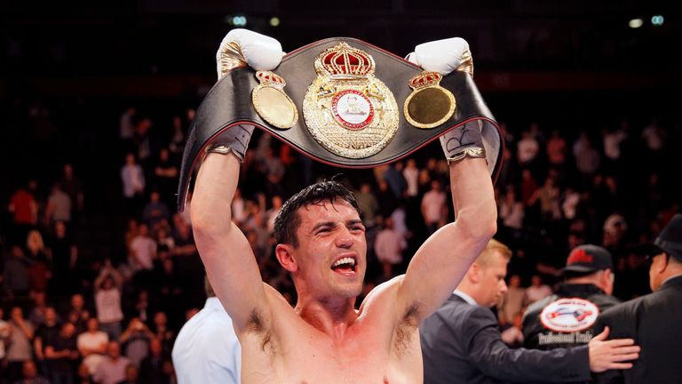 Anthony Crolla celebrates beating Ismael Barroso
