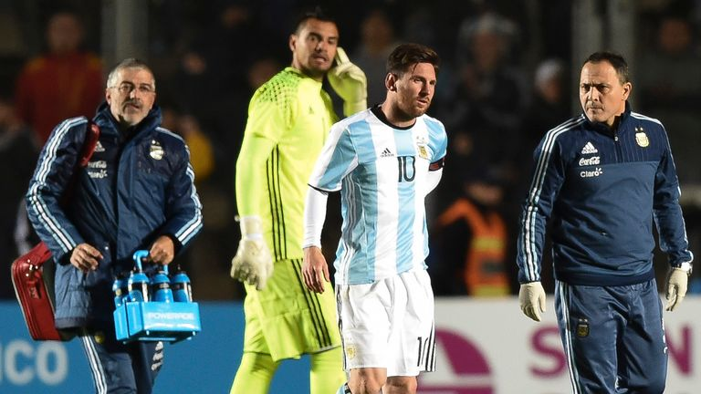 Messi went off with a back injury during the friendly clash with Honduras