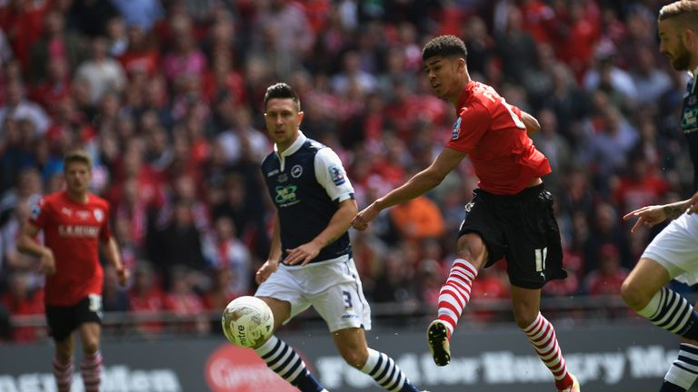 Fletcher scored inside the opening two minutes as Barnsley defeated Millwall in the Sky Bet League One play-off final in May