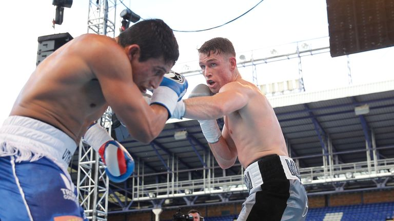 Callum Smith earned three knock-downs before a sixth-round finish