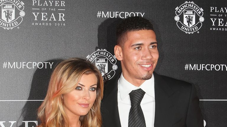 Chris Smalling won the Manchester United Players' Player of the Year award