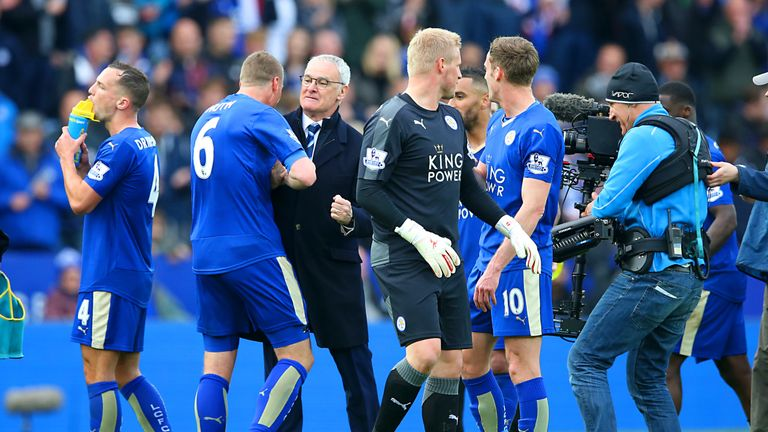 Ranieri will lift the Premier League trophy with his players on Saturday