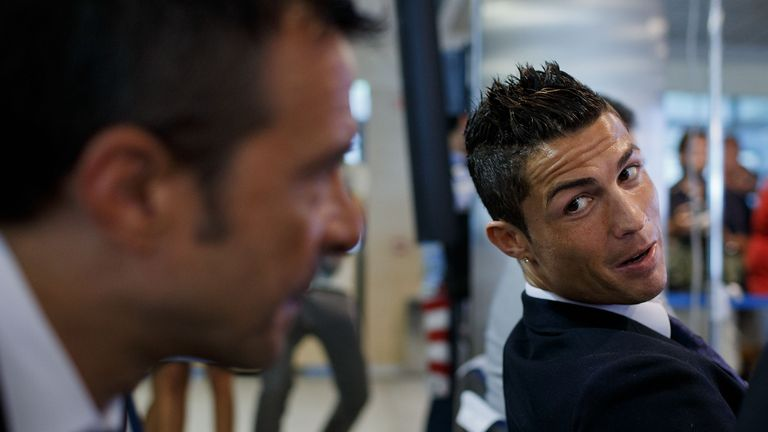 Jorge Mendes with his most famous client, Real Madrid's Cristiano Ronaldo