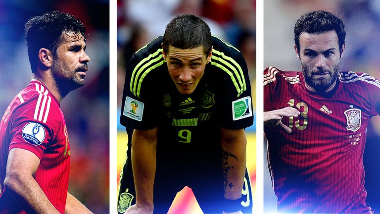 Diego Costa, Fernando Torres and Juan Mata have been left out of Spain's Euro 2016 squad