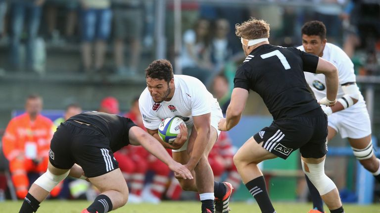 Genge on the charge against New Zealand in the World U20 final