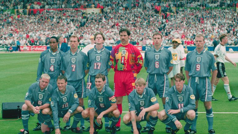 England's starting XI to face Germany in their Euro 96 semi-final