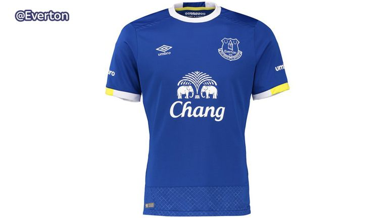 Everton's new shirt takes inspiration from Goodison Park (image c/o Everton)