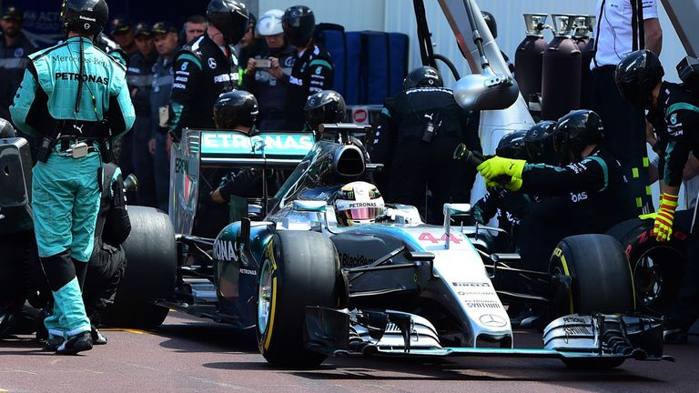 Mercedes believed Hamilton could pit and return in front of both Rosberg and Vettel