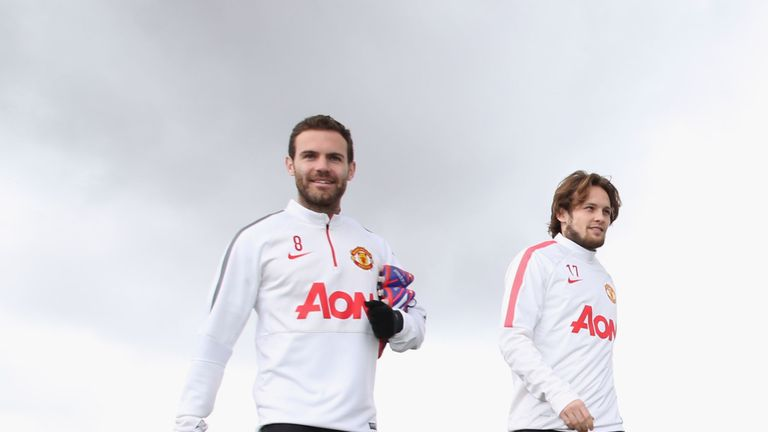 Jose Mourinho is willing to let Juan Mata (L) and Daley Blind (R) leave Manchester United this summer