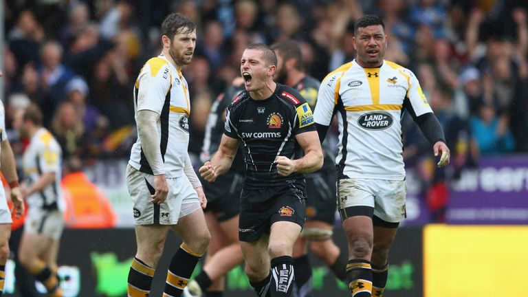 Gareth Steenson's 14-point haul helped push Exeter Chiefs into their first Premiership Final