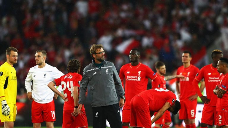 Liverpool's defeat to Sevilla in the Europa League final ended hopes of a Champions League spot next season