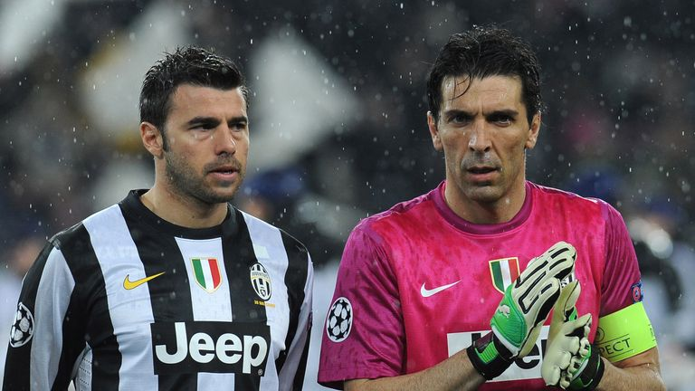 Gianluigi Buffon (right) and Andrea Barzagli (left) will remain at Juventus until June 2018