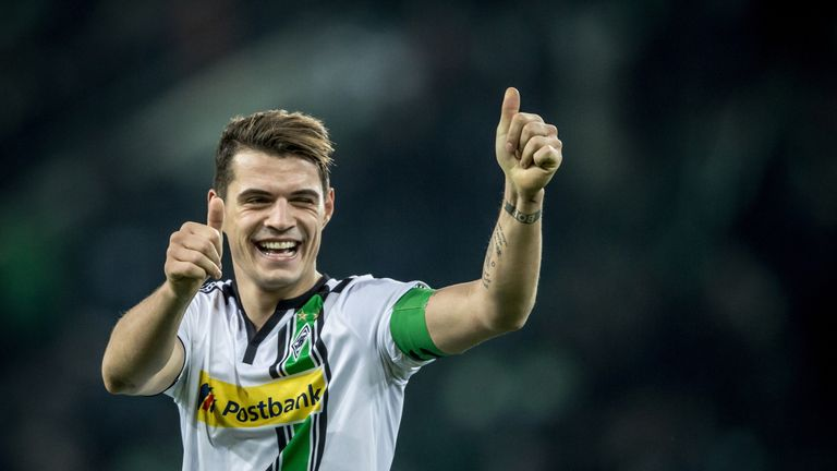 Xhaka has joined the Gunners from Borussia Monchengladbach