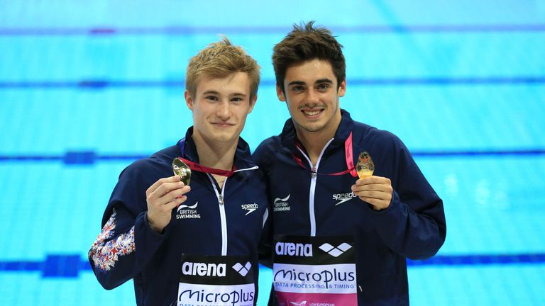 Jack Laugher (R) with 3m synchro partner Chris Mears