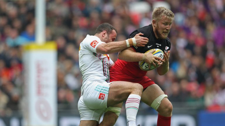 Jackson Wray crashed over for two close range tries as Saracens secured a home semi-final