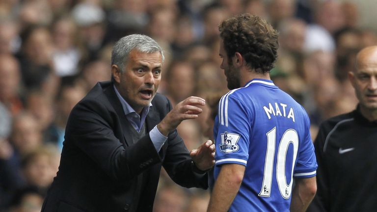 Mata was positive about Jose Mourinho's arrival at Chelsea but was sold to United after half a season