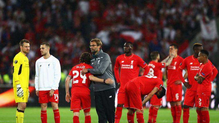 Liverpool were beaten 3-1 by Sevilla in the 2016 Europa League final