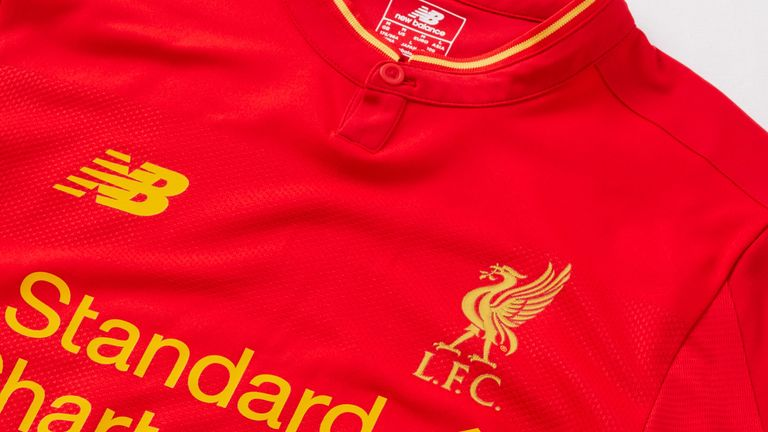 A view of Liverpool's new home kit for the 2016-17 Premier League season - image courtesy LFC