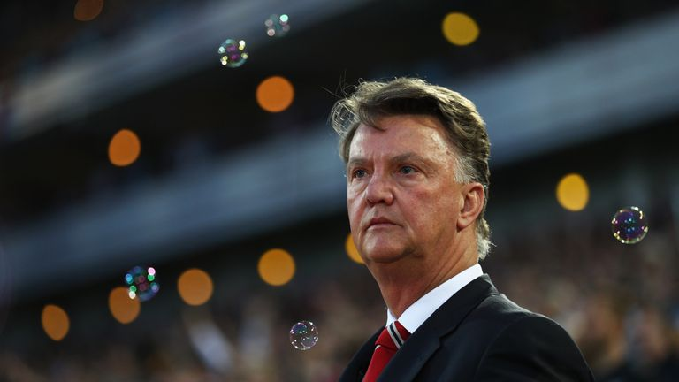 United manager Louis van Gaal has one year left on his current contract