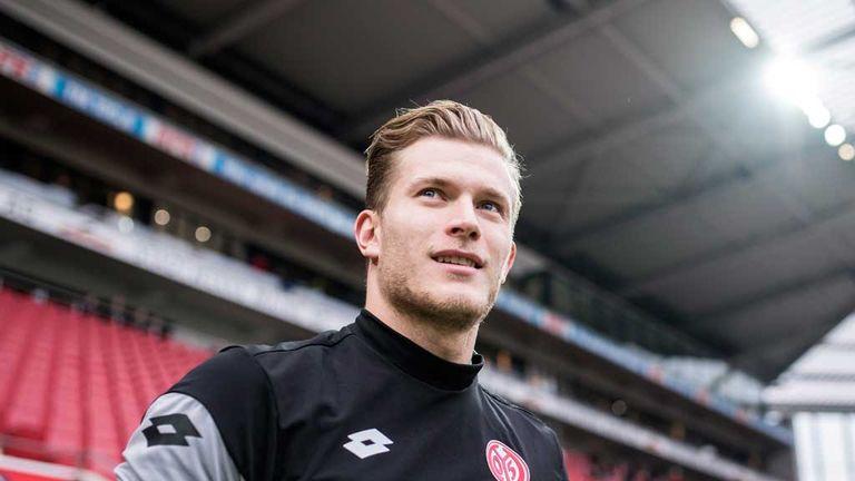 Mainz goalkeeper Loris Karius is in Liverpool for a medical