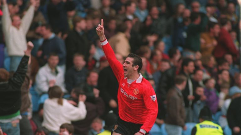 Cantona scored 82 goals in 185 appearances for Old Trafford