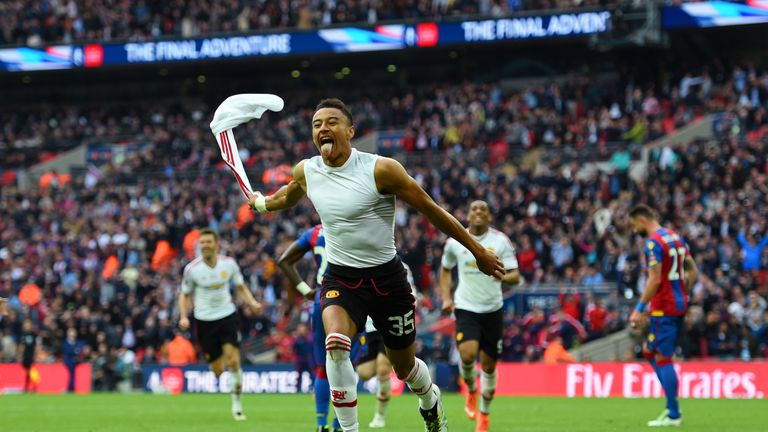 Jesse Lingard scored the winning goal in the FA Cup final for Man United against Crystal Palace at Wembley