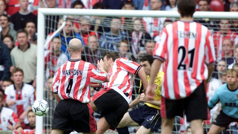Matthew Le Tissier scores the last goal at The Dell - a last-minute winner against Arsenal