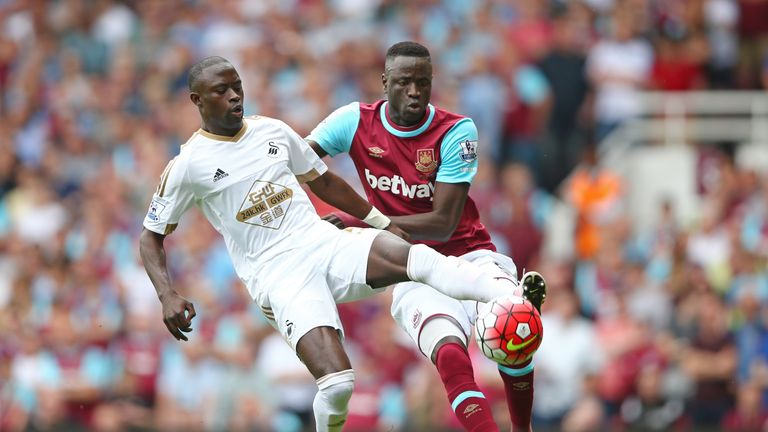 West Ham's Champions League hopes were ended by Swansea