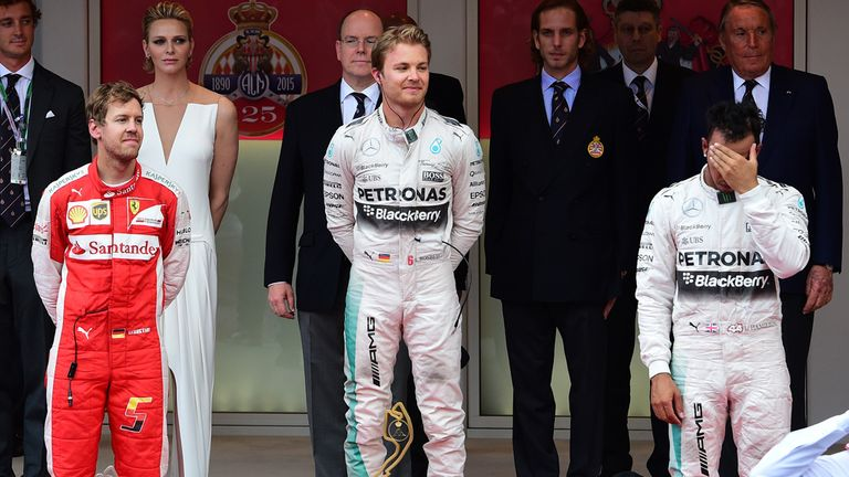 Hamilton could not hide his disappointment on the podium