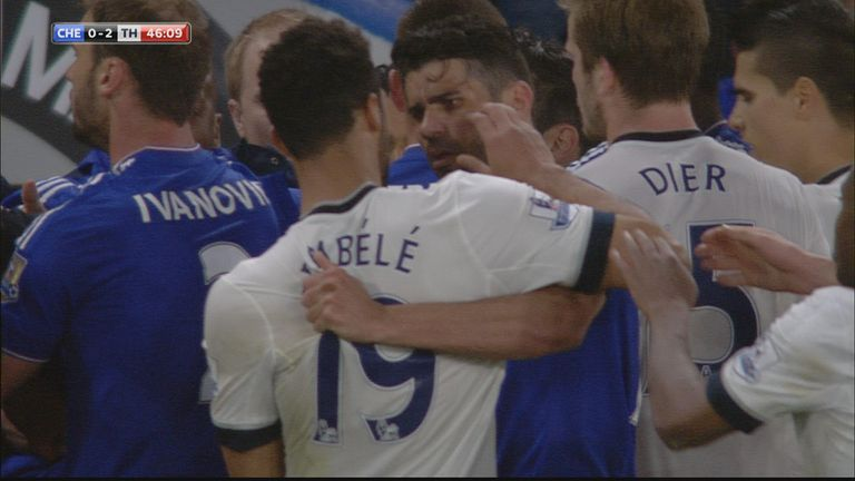 Dembele was banned for six games after his confrontation with Diego Costa