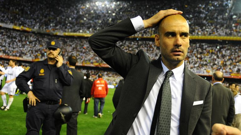 Guardiola may have secured the league but he lost the Copa del Rey final to Mourinho's Real