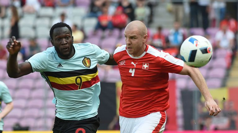 Philippe Senderos (right) has missed out on a place in the Switzerland squad