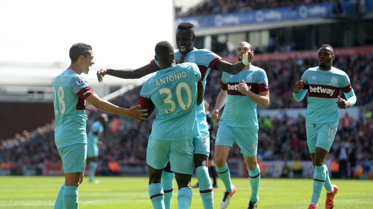 Michail Antonio opened the scoring for West Ham in the first half